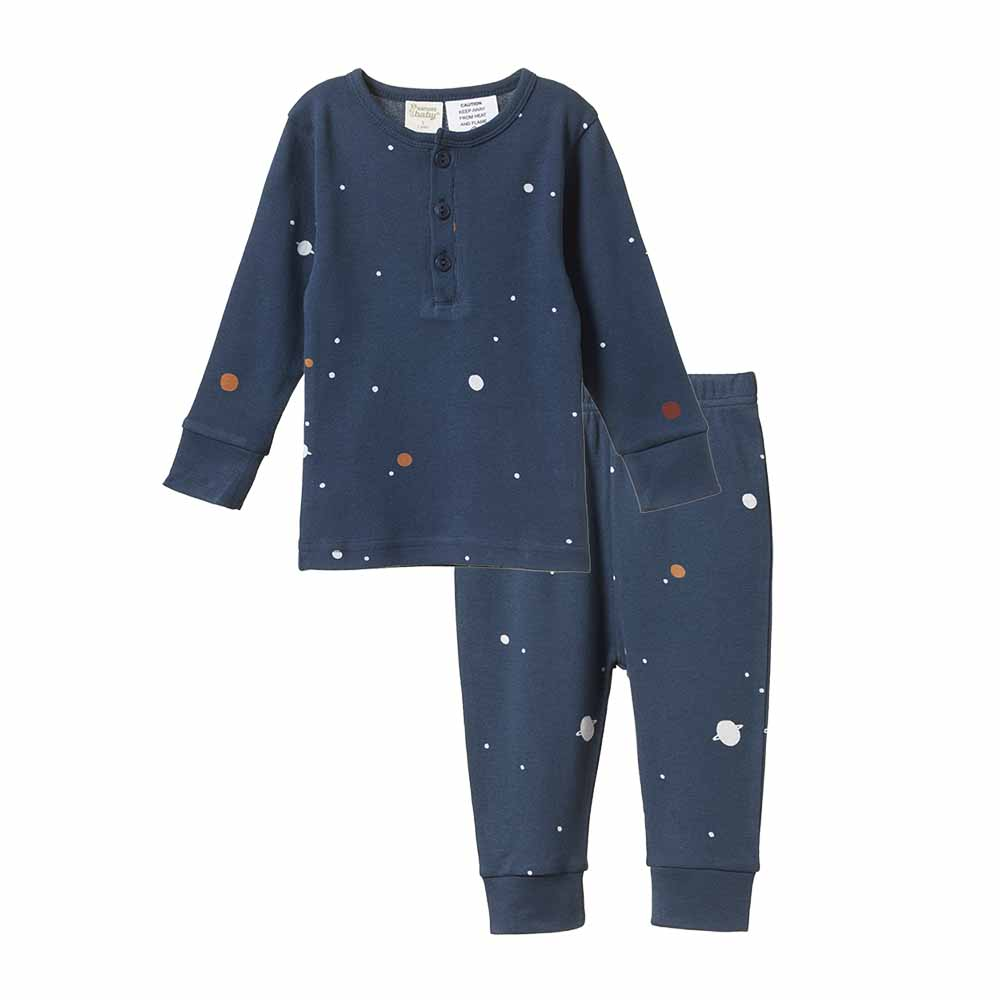 Long Sleeve Pajama Set - Cosmic Print